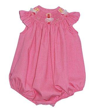 Vive La Fête Yellow Floral Dot Bubble Bodysuit - Infant