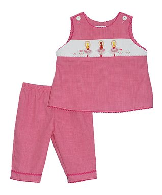 Vive La Fête Red Zigzag Butterfly Bishop Dress - Infant & Toddler