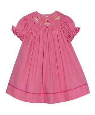 Vive La Fête Blue Paisley Smocked Dress - Infant & Toddler