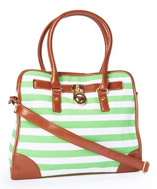 MKF Collection Fluorescent Green Shirley Padlock Tote