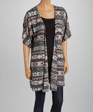 Black Embroidered V-Neck Tunic