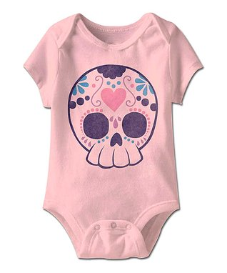 Pink Sugar Skull Bodysuit - Infant