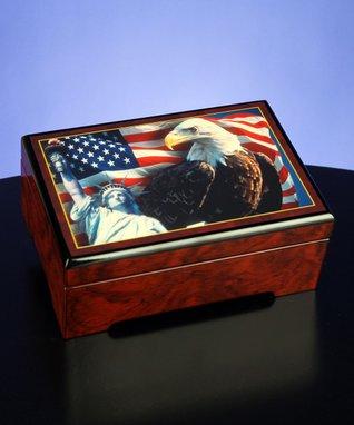 America The Beautiful Musical Jewelry Box