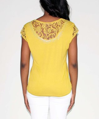 Design 26 Yellow Lace Top