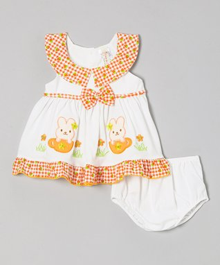 Bloom & Petal Pink Polka Dot Babydoll Dress - Infant