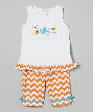 Vive La Fête Orange Under the Sea Tank & Capri Pants - Toddler & Girls