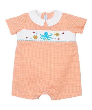 White Tee & Blue Teddy Bear Shortalls - Infant & Toddler