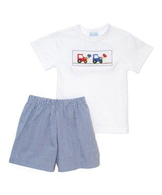Vive La Fête Red American Tee & Zigzag Shorts - Infant, Toddler & Boys
