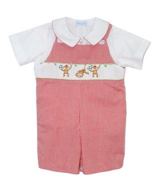 Vive La Fête Pink Polka Dot Poodle Bubble Bodysuit - Infant