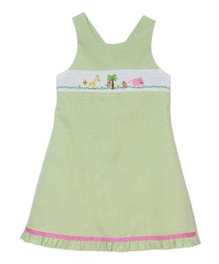 Vive La Fête Blue Paisley Button Dress - Toddler & Girls