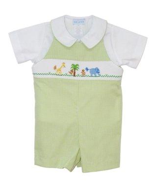Vive La Fête Blue Gingham Lobster Smocked Dress - Infant & Toddler