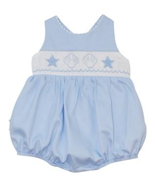 Vive La Fête Blue Acuattica Cross-Back Bubble Bodysuit - Infant