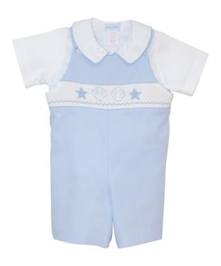 Vive La Fête White Lobster Tee & Blue Shorts - Infant