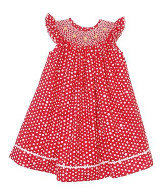 Vive La Fête Green Zoo Smocked Cross-Back Dress - Infant, Toddler & Girls