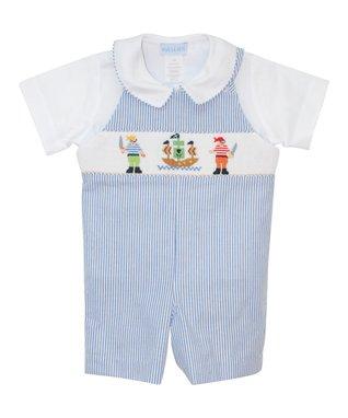 Vive La Fête Blue Paisley Bubble Bodysuit - Infant