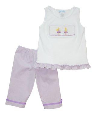 Vive La Fête Blue Sailing Smocked Shortalls - Infant & Toddler