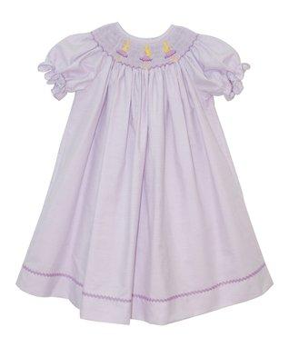 Vive La Fête Purple Smocked Ballerina Bishop - Infant, Toddler & Girls