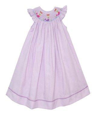 Vive La Fête Lavender Mermaid Bishop Dress - Infant, Toddler & Girls
