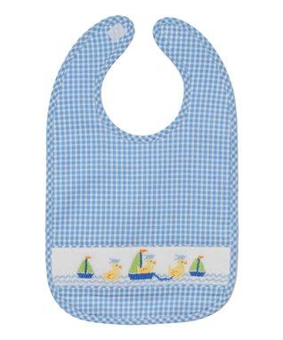 Vive La Fête Blue Acuattica Smocked Shortalls - Infant & Toddler