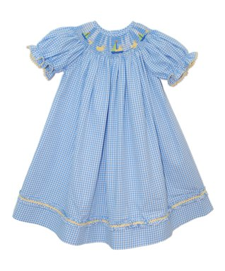 Vive La Fête White Easter Bunny Smocked Dress - Infant & Girls