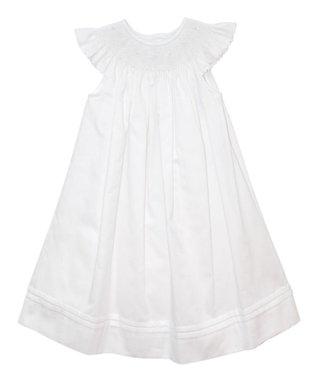 Vive La Fête Pink Geometric Smocked Gown - Infant