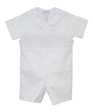 Vive La Fête Blue Sailing Ducks Bishop Dress - Infant, Toddler & Girls
