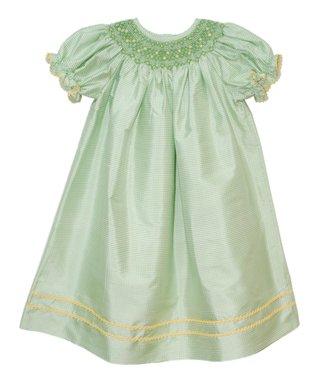 Vive La Fête Red Smocked Florence Bishop Dress - Infant, Toddler & Girls