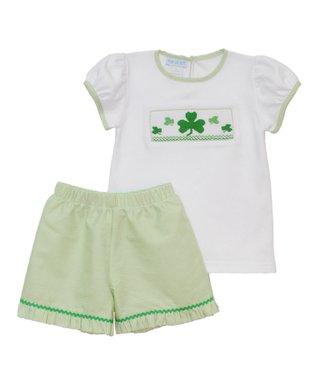 Vive La Fête Red Monkey Smocked Cross-Back Dress - Infant, Toddler & Girls