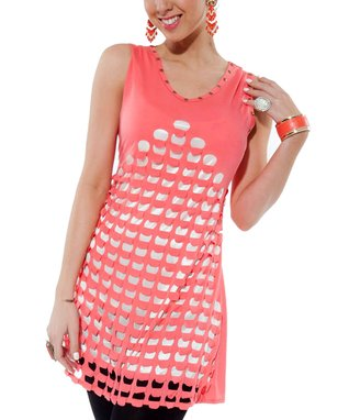 Coral Studded Cutout Tunic