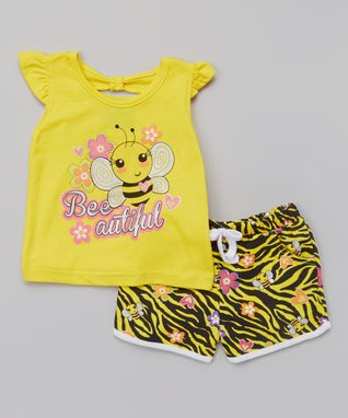 Girls Rule Fuchsia & Yellow Party Tank Set - Infant & Toddler