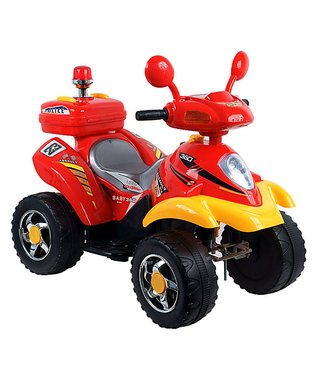 Lil' Rider Red & Yellow Electric Four-Wheeler Ride-On