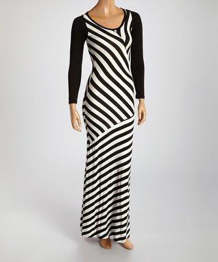 American Twist Black Scoop Neck Maxi Dress