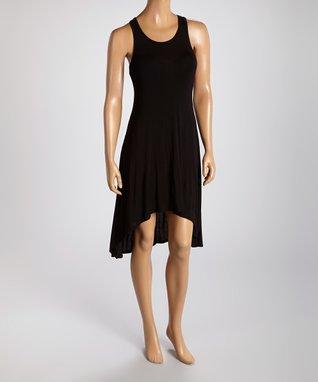 American Twist Black Racerback Midi Dress