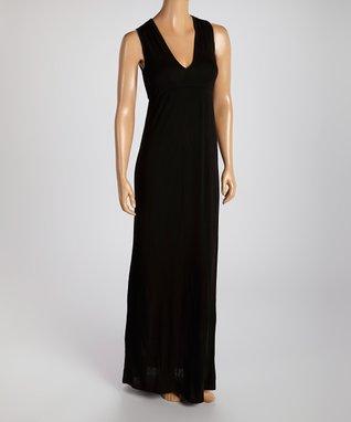American Twist Black Classic Sleeveless Maxi Dress