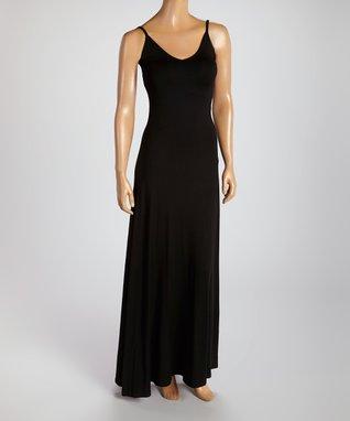 American Twist Black & White Horizontal Stripe Stripe Scoop Neck Maxi Dress