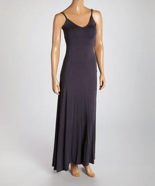 American Twist Slate V-Neck Maxi Dress