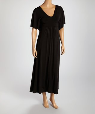 American Twist Black Cape Sleeve Dress