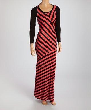 American Twist Purple & Gray Tie-Dye Maxi Dress