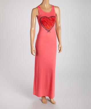American Twist Red & Black Color Block Scoop Neck Maxi Dress