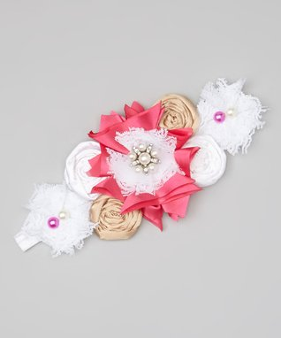 Couture Pink and White Headband