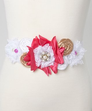 Pink & White Couture Sash