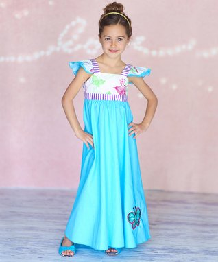 Turquoise Kira Dress - Infant, Toddler & Girls