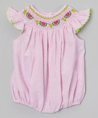 Pink Watermelon Bubble Romper - Infant