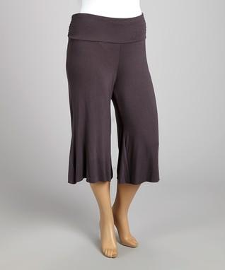 Charcoal Gaucho Pants - Plus