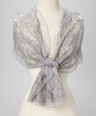 Gray Lace Shawl
