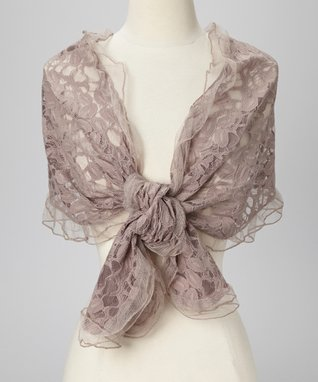 East Cloud Pink Textured Embroidered Scarf