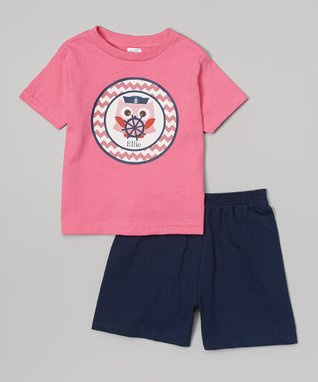 Pink Sailor Owl Personalized Tee - Infant, Toddler & Girls