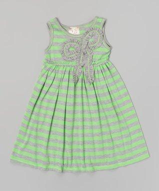 Neon Pink & Black Cheetah Babydoll Dress - Girls