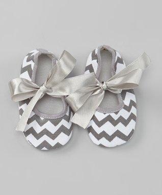 Gray Zigzag Sweet Princess Booties