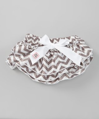 Gray Zigzag Glam Diaper Cover - Infant